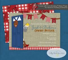 country potluck invitation country picnic bbq picnic