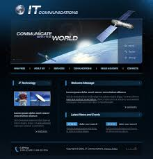 website template 12384 it communication solution custom website