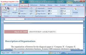 Word Layout Pictures | microsoft office word 2007 learn the page layout tab in ms word it