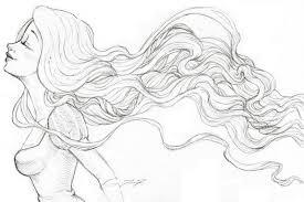 rapunzel sketch hair flowing by love4me on deviantart
