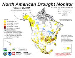 Map Of Northern America by Maps And Reports For February 2017 North American Drought Portal