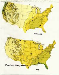 North America Precipitation Map by East Coast