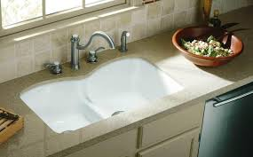 Granite Undermount Kitchen Sinks by Kitchen Undermount Kitchen Sink Styles With Small Bowl On Cream