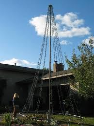tree pole stand demo tree light