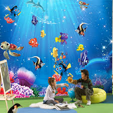 aliexpress com buy wholesale 3d wall murals wallpaper for baby aliexpress com buy wholesale 3d wall murals wallpaper for baby kids room 3d photo mural child room fishes sea world 3d cartoon murals from reliable 3d