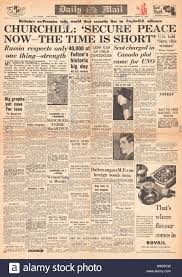 Iron Curtain Speech 1946 Daily Mail Churchill Delivers