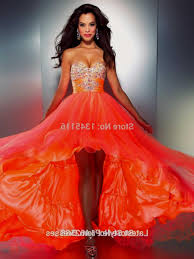 orange prom dress high low naf dresses
