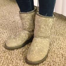 yellow uggs boots s shoes 35 ugg boots authentic uggs in grey paisley from