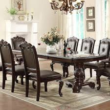 north carolina dining room furniture crown mark kiera tradition double pedestal table and four side