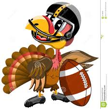 thanksgiving turkey american football stock vector image