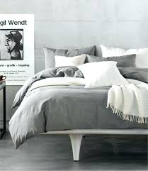 grey ruffle duvet cover queen nz gray linen ikat medallion duvet cover full queen light grey linen cotton