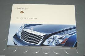 2005 mercedes benz maybach 57 62 owners manual book used