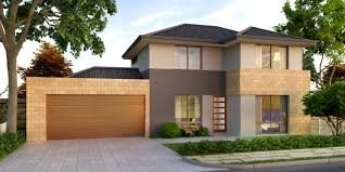 the townhouse four bed two storey home design domain by plunkett