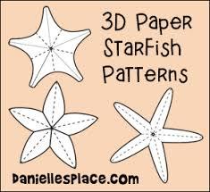 3d starfish patterns from www daniellesplace com ocean crafts
