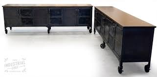 Industrial Accent Table Hand Crafted Custom 9 U0027 Industrial Rolling Media Cabinet Modern