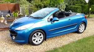 peugeot cars uk video review of 2007 peugeot 207 cc gt convertible for sale sdsc