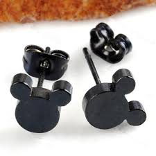 mickey mouse earrings 2pcs cool mickey mouse stainless steel stud unisex men women