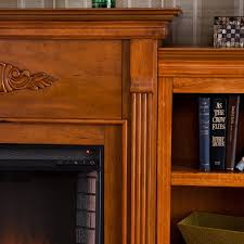 Infrared Electric Fireplaces by 70 25 U0027 U0027 Tennyson Glazed Pine Infrared Electric Fireplace W