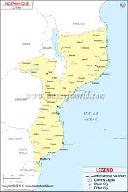 Mexico Map With Cities by Cities In Mozambique Map Of Mozambique Cities
