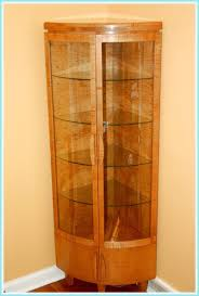 Hanging Curio Cabinet Wood Corner Wall Curio Cabinetscherry Wood Corner Curio Cabinets