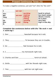 esl grammar worksheets present continuous tense 5