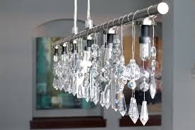 Linear Chandelier With Shade Diy Linear Crystal Chandelier