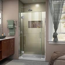 39 Shower Door Shop Dreamline Unidoor X 39 In To 39 5 In W Frameless Chrome