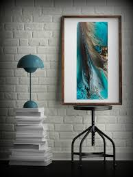 giclee prints art abstract painting coastal home decor modern