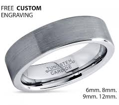 Men Wedding Ring by Men U0027s Wedding Band Brushed Tungsten Carbide Unique Mens Wedding