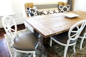 cozy white wood dining table and chairs homefurniture org