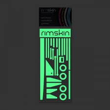 glow in the stickers lite bike glow green accent sticker pack rimskin custom wheel skins