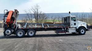 kenworth trucks for sale in pa 2009 kenworth with palfinger pk44000 crane crane for in manheim