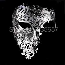 buy masquerade masks aliexpress buy luxurious silver evil skull half metal
