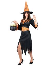 orange halloween spider witch costume for girls adults costumes