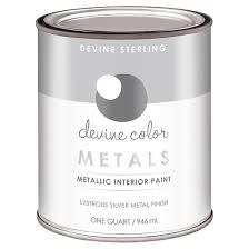 devine color by valspar 1 quart metallic paint sterling target