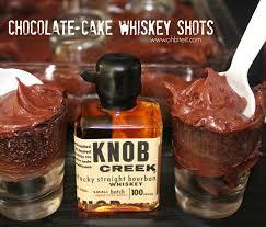 chocolate cake whiskey shots oh bite it