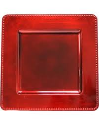 deal on square beaded 13 x13 charger plates apple