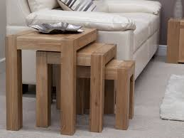 oak nest of tables trend oak furniture oak city