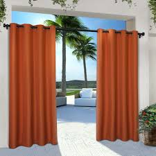 Outdoor Cabana Curtains Ati Home Indoor Outdoor Cabana Curtain Panel Pair With Grommet Top