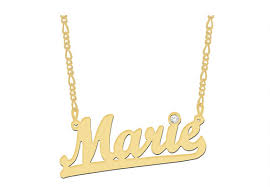 make your own name necklace underlined solid gold name necklace gravure sur bijoux jewelry