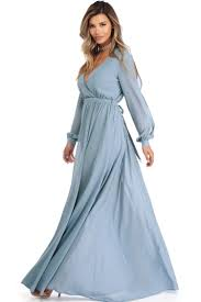 dress blue sale audrina light blue sleeve chiffon dress