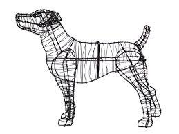Bunny Topiary Frame Green Piece Wire Art Topiary Animal Wire Art Lambert Vet Supply