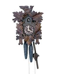 cuckoo clock 1 day movement carved style 23cm by anton schneider