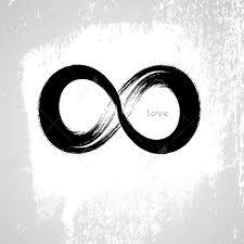 infinity love brush stroke infinity symbol