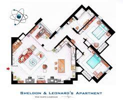 plan de l u0027appartement de big band theory leonard sheldon life