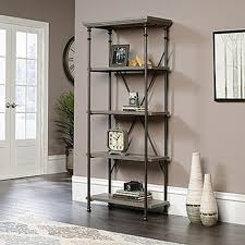 White Open Back Bookcase by Sauder Bookcases Home Office Furniture The Home Depot