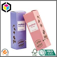 paper material color print packaging box perfume paper packing box