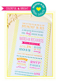 breakfast at s bridal shower deanna design breakfast in bed bridal shower invites