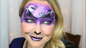 midnight kitty halloween mask face painting and makeup youtube
