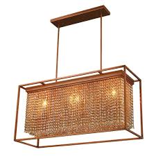crystal l shade chandelier modern industrial 3 light french gold finish and amber crystal